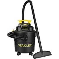 $62 » Stanley SL18115P Wet/Dry Vacuum, 5 Gallon, 4 Horsepower, 4.0 HP AC, Black
