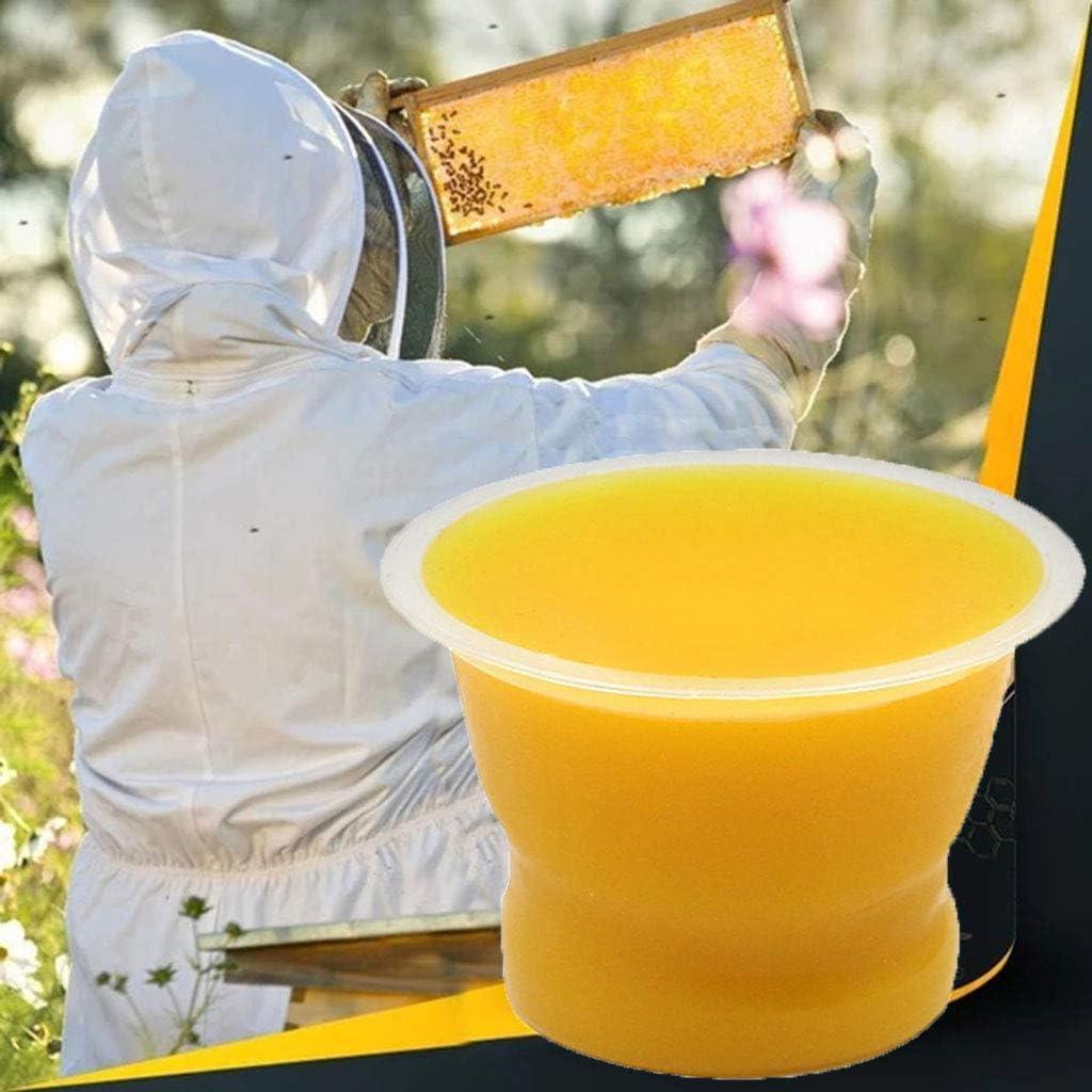 100% Natural Beeswax Furniture Polish Beeswax für Wood Furniture Cleaner und Polish Wipes Preservative neu Seasoning Beewax Wooden Surfaces Wax (Yellow, 50G)
