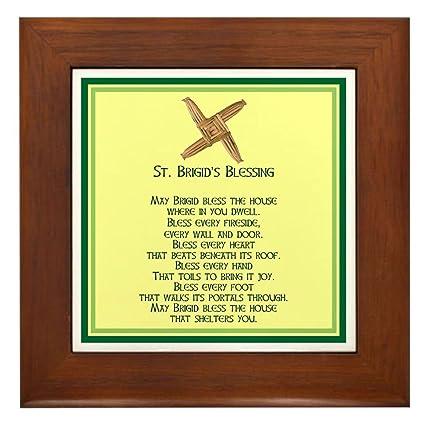Amazon.com: CafePress - IRISH BLESSINGS- ST. BRIGID Framed Tile ...