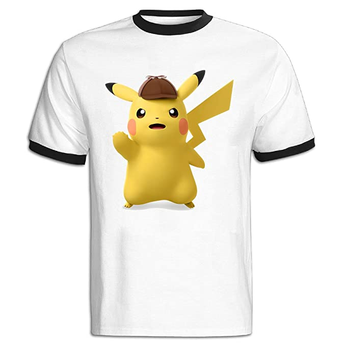 b234a2ab Image Unavailable. Image not available for. Colour: Mens Great Detective  Pikachu 2016 Classic Hit Color Blocking Shirts