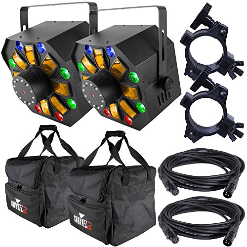 Chauvet Swarm Wash FX Lights x2 w/ Bags & ()