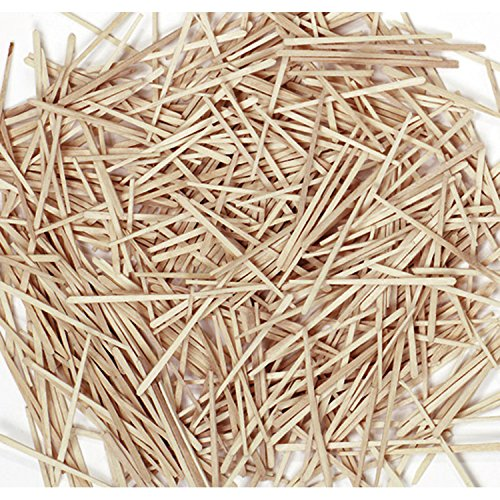 Chenille Wood Kraft Flat (Chenille Kraft 369001 Flat Wood Toothpicks, Wood, Natural, 2500/Pack (CKC369001) (CK-369001))