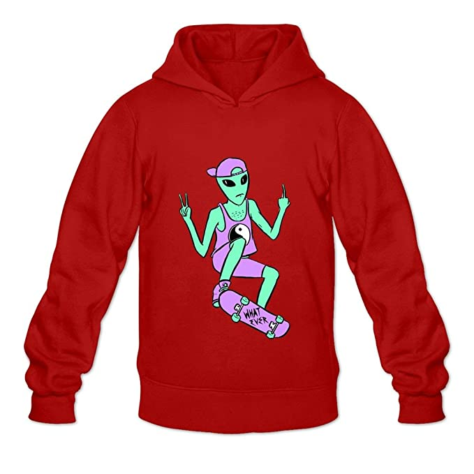 soulya Hombres de Alien paz monopatín hip pop Sudaderas con capucha sudadera tamaño US negro: Amazon.es: Ropa y accesorios
