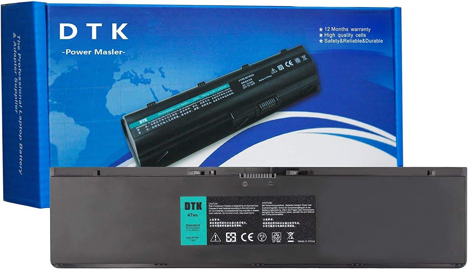 DTK 34GKR G0G2M 451-BBFV 7.4V 47Wh Laptop Replacement Battery for DELL Latitude 14 7000 Series E7420 E7440 E7450 Notebook 4 Cells