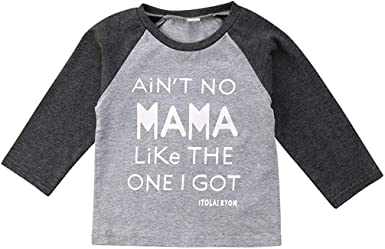 Aint No Mama Like The One I Got Long Sleeve Romper Onesie Clothes for Baby