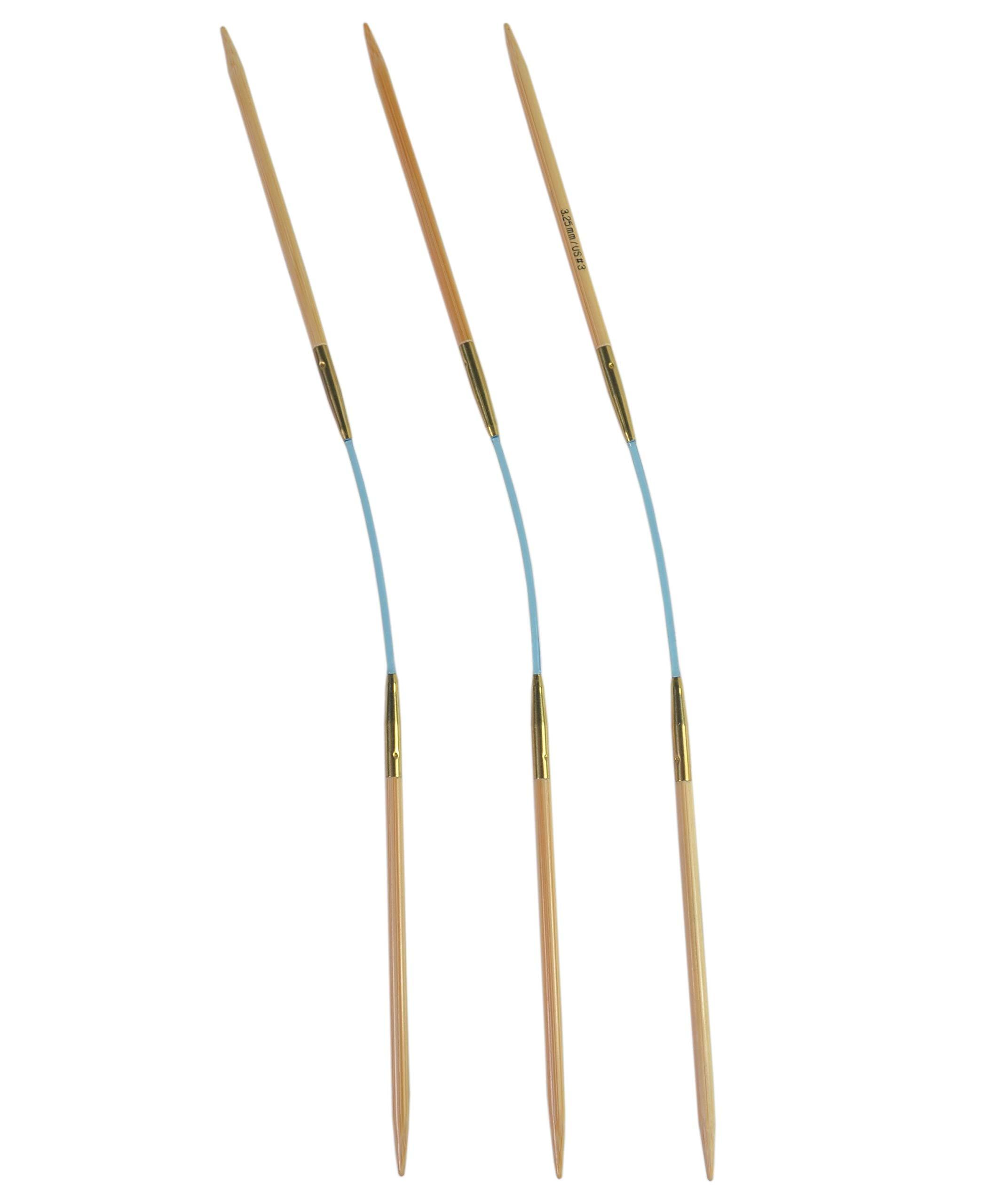 addi Flexi Flip Bamboo Knitting Needles (Set of 3) - US 2 (3.0mm)