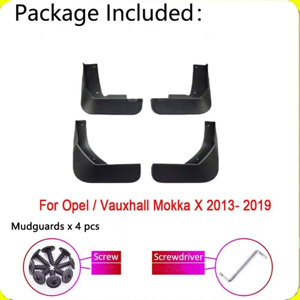 Color : Black Accessori per carrozzeria Paraspruzzi Fender for Opel Vauxhall Mokka X 2019~2013 Buick Encore Mud Flap Guardia Parafanghi Accessori 4 pezzi neri