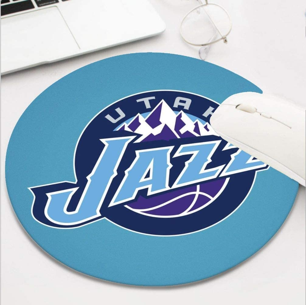 Round Basketball Team Mouse Pad,Cute and Funny Non-Slip Base Life Needs Sport Mousepad, Utah Funs Gift Mouse Mat