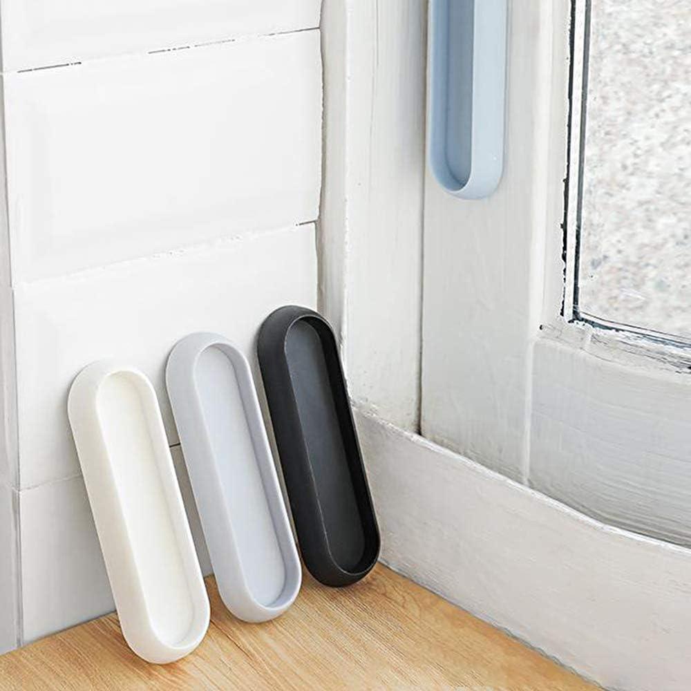 4 pezzi Aiuto minimalista Maniglione antiaderente Maniglia ausiliaria Maniglia istantanea autoadesiva per porta finestra Cassetto Armadio Armadio Frigorifero Keilafu Maniglia autoadesiva Blu