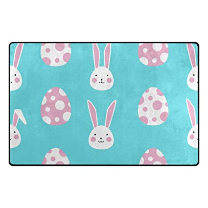 Amazon Com La Random 31x20 Inches Area Rugs Easter Rabbits Egg