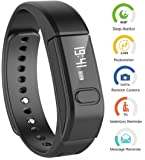 "Fitness Tracker HR, Activity Tracker Watch with Heart Rate Monitor, IP67 Water Resistant Smart Bracelet with Calorie Counter Pedometer Watch for Android and iOS32""- 20.12cm/7.92"") (Black)"
