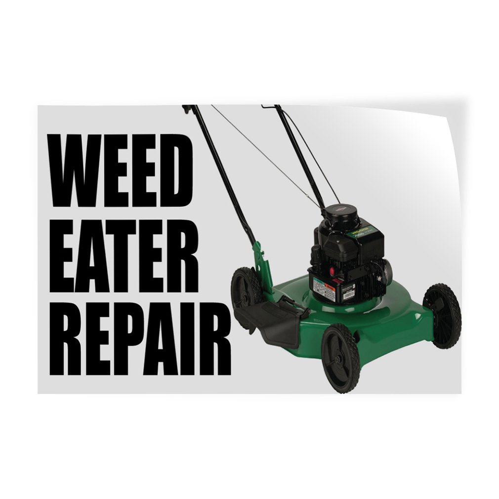 Weed Eater Repair Indoor Store Sign Vinyl Decal Sticker Engine Diagram 45inx12in Office Products