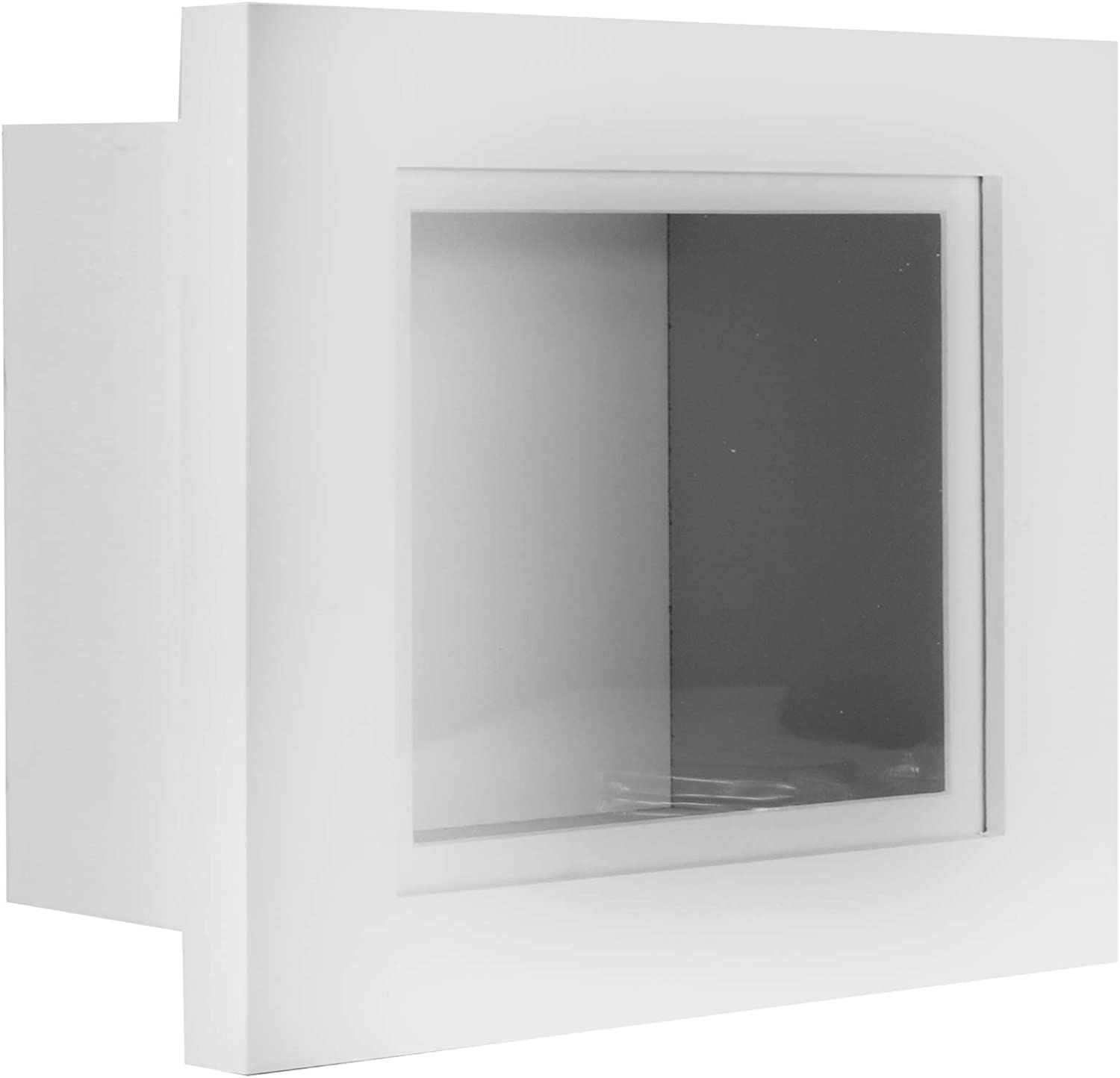 55mm 10x8 BRUSHED SILVER DEEP 3D SHADOW BOX,CASTS,FLOWERS,MEDALS,3D FRAMING