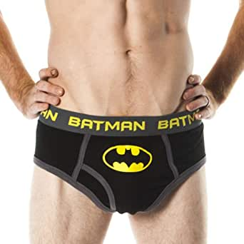 Blue Star Inc. Batman POW Men's Black Briefs