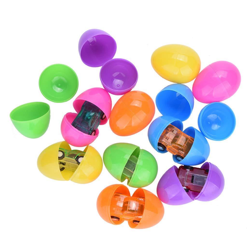 Geetobby Toys イースターエッグ 2.5インチ 明るくカラフルな詰め物入り プラスチック製 イースターエッグ 人気のおもちゃ付き B07PGHH56V A