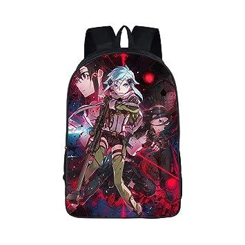 Sword Art Online Casual Mochilas Escolares para Niño y Niña Mochila de Viaje School Rucksack Impreso Mochila Infantil: Amazon.es: Equipaje