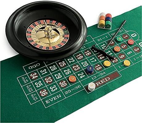 Juego - Ruleta de Casino Premium, Incluye tapete, ficha y recogedor (ITA Toys JU01018): Amazon.es: Juguetes y juegos