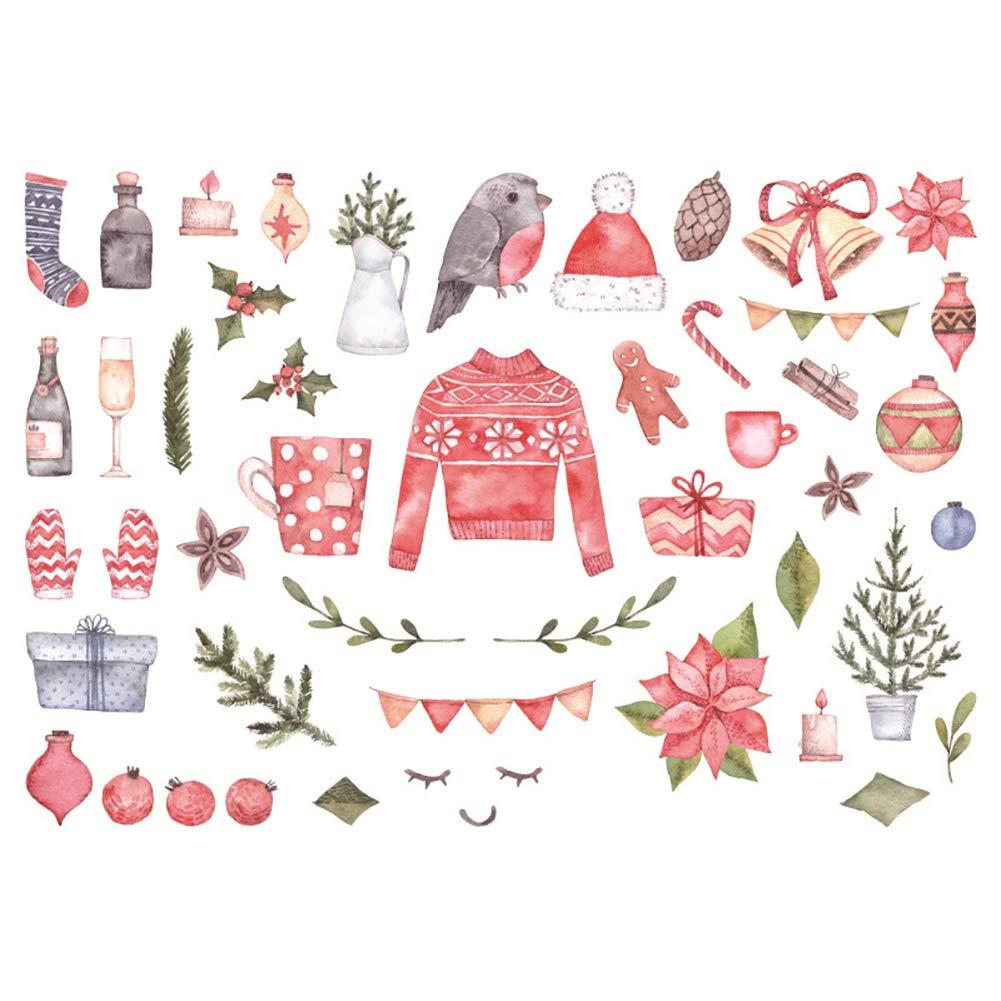 BIGBOBA Stile natalizio Adesivi Stickers per diario, Deco Craft, Album, regalo, Decalcomanie per Deco Craft