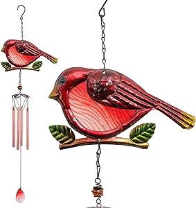 zhengshizuo Iron Wind ChimesRed Bird Wind Chimes Mom Gardening Gifts Indoor/Outdoor Decor Garden Yard Wind Chimes Windchimes