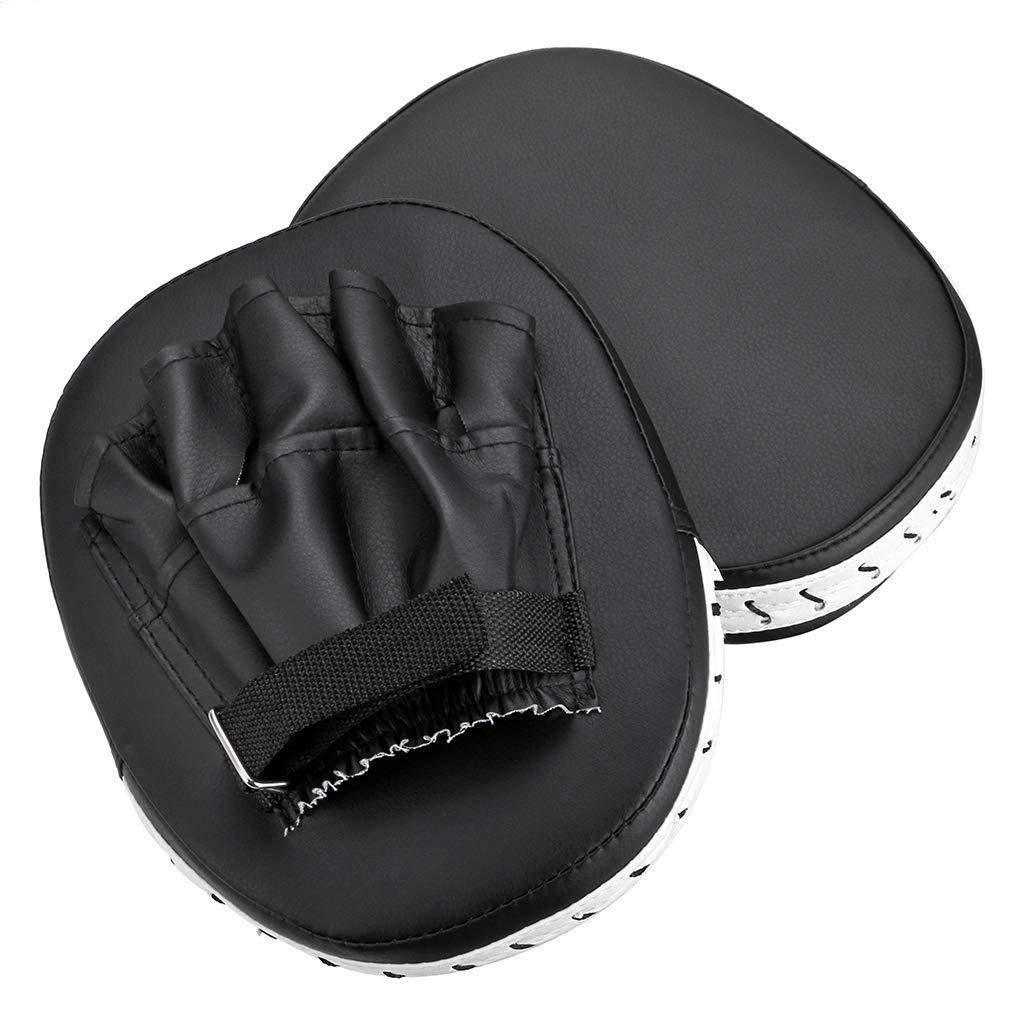 Hipiwe MMA フォーカスパンチミット PUレザー キックパームパッド B07MB96DT3 テコンドー トレーニング ボクシング ターゲットパッド ボクシング トレーニング 調節可能なストラップ付き 2個 ブラック B07MB96DT3, ヌマクマグン:52d492ea --- capela.dominiotemporario.com