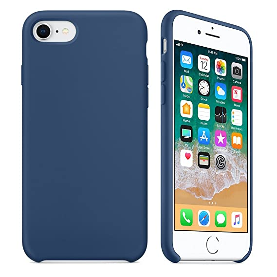 reputable site f4a86 b126a iPhone 8 Plus/7 Plus Liquid Silicone Case,LIANGJIHUI Liquid Silicone Gel  Rubber Shockproof Case Cover with Soft Microfiber Cloth Lining Cushion for  ...