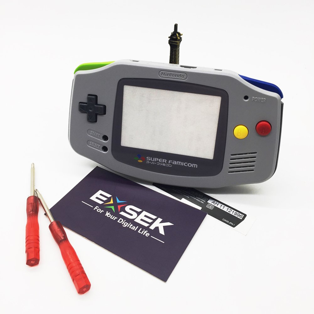 EXSEK Limited SFC Edition GBA Housing Shell Pack Compatible with Gameboy Advance (SFC)