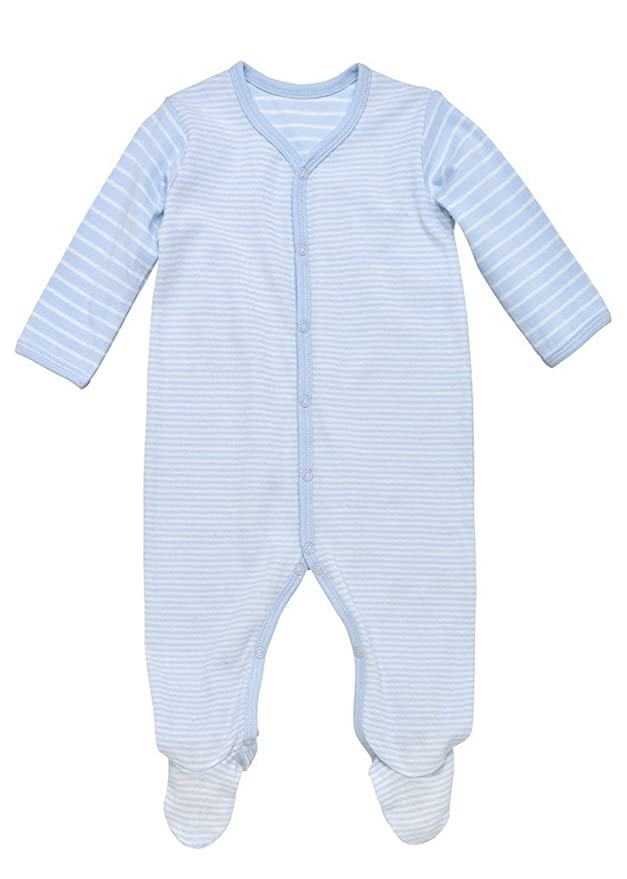 8ef378bde Amazon.com: Under the Nile Organic Cotton Snap Front Baby Footie: Clothing