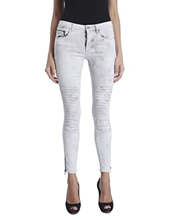 ONLY Damen Jeans Leggings ROYAL REG SK Ankle Race PIM 403 Biker grau Denim  (XS 6d1365d44f