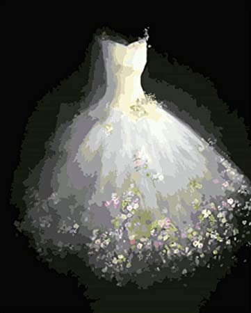 Abiti Da Sposa Fai Da Te.Wxlzy Abito Da Sposa Fai Da Te Pittura Digitale Dai Kit Di Numeri