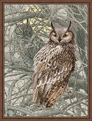 "Eagle Owl Counted Cross Stitch Kit-11.75""X15.75"" 14 Count"