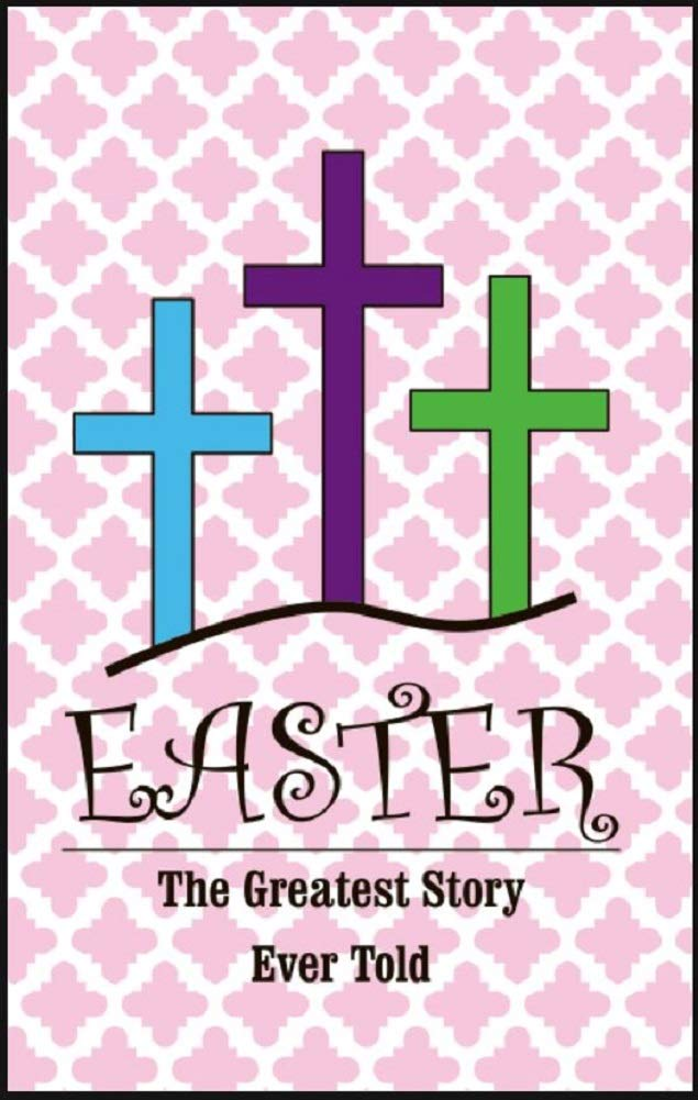 Jolly Jon Double Sided Easter Garden Flag - The Greatest Story Ever Told - Religious Cross Design Yard Decoration - Seasonal Spring 12x18 Flags