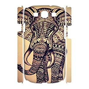 LZHCASE Cover Case Elephant Aztec Tribal 3D Diy For Samsung Galaxy S3 I9300 [Pattern-1]