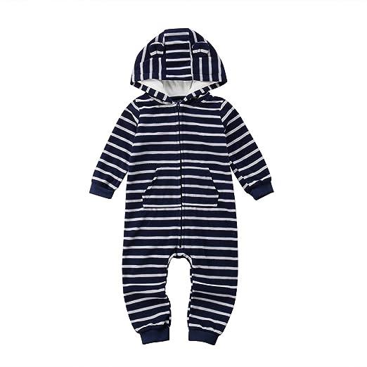 c1db04373ea5 Amazon.com  Newborn Infant Baby Boy Girl Stripes Pajamas Sleeper ...