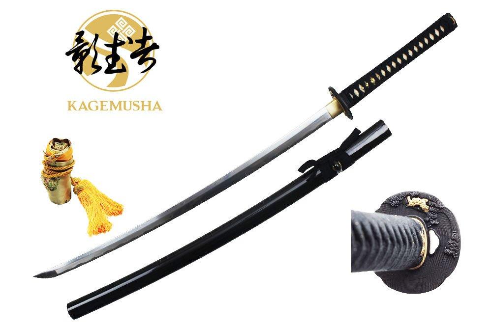 Swordmaster - Kagemusha Full Tang 1060 Carbon Steel Japanese Katana Sword with Silk Bag NIB
