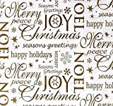 Decorative primitive & rustic crafting was Manufactured to Look Antique Noel Christmas Tissue Paper #859 - Gold Letters, Gold Sparkles - 10 Large Sheets Inspiration for A Project