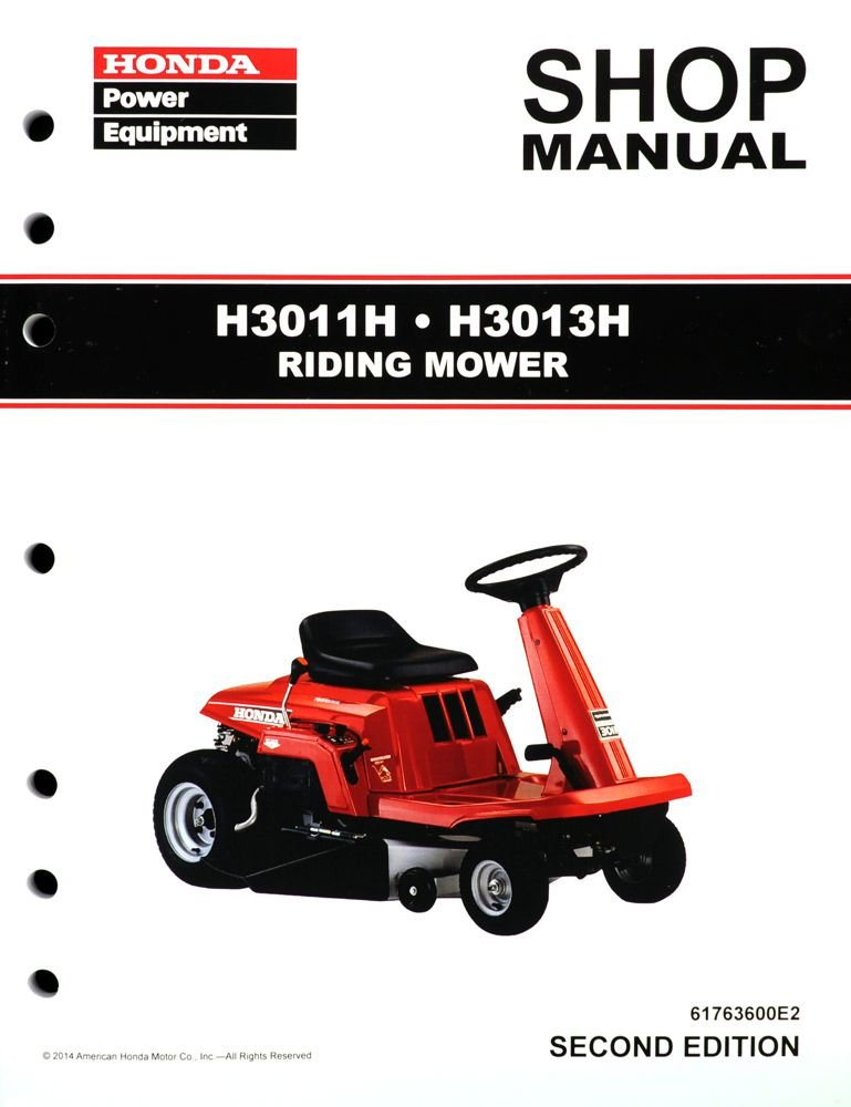 amazon com honda h3011 h3013 h model riding mower service repair rh amazon com honda mower manual hrr2166vka honda mower manual hrx 217