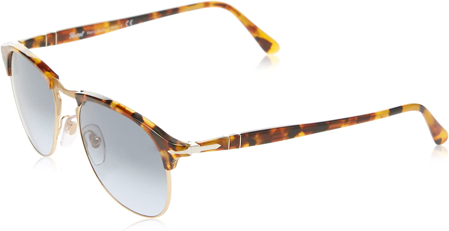 Persol Montures de lunettes Homme Marron (Madreterra/Light Blue Gradient Dark Blue)