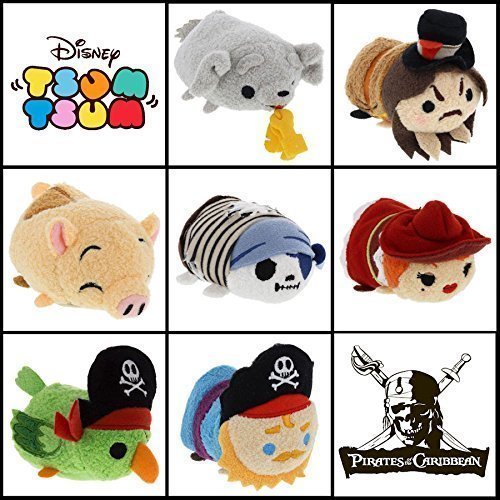 2016 Disneyland Walt Disney World Parks Exclusive Attraction Tsum Tsum Pirates Of The Carribean Set Of 7
