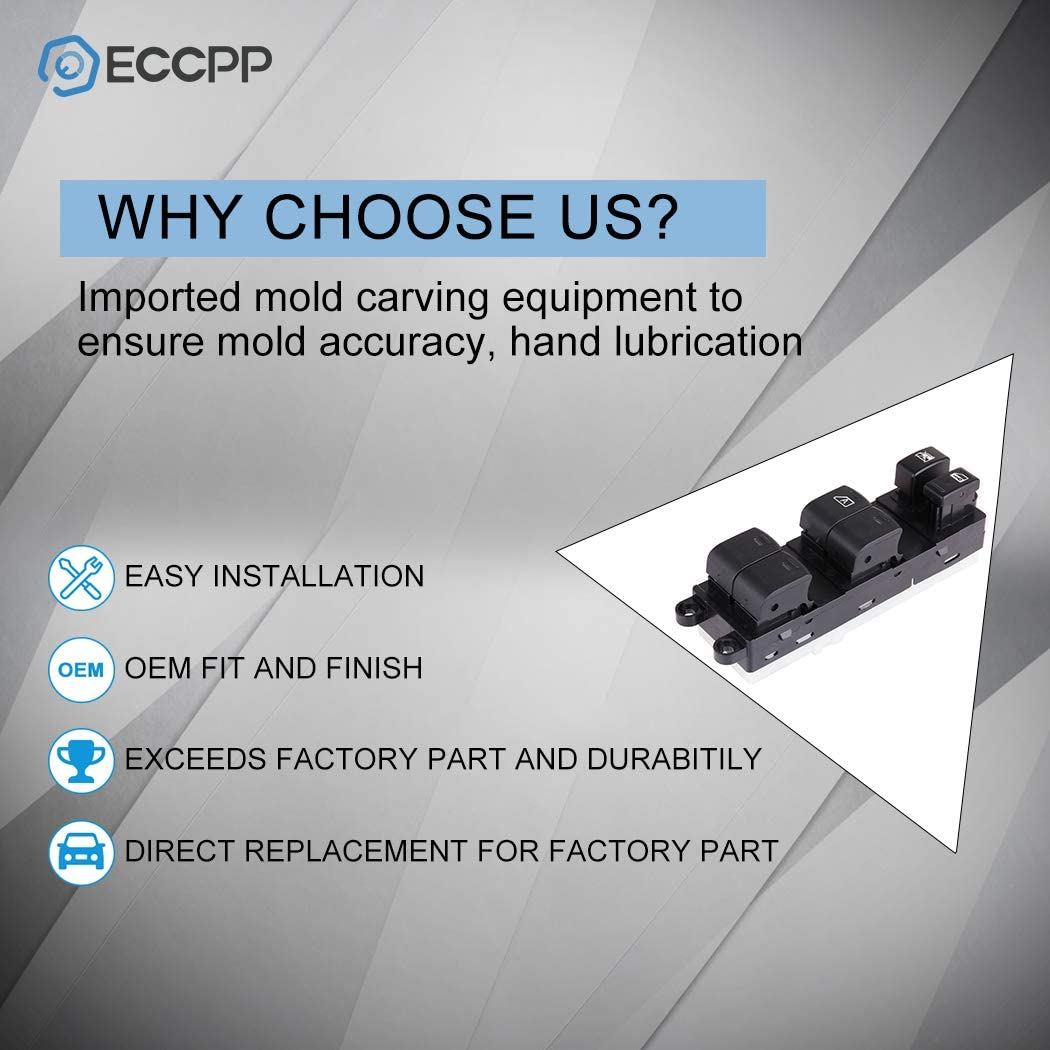 ECCPP Power Window Switch on Front Left Driver Side for 2005-2008 Nissan Pathfinder