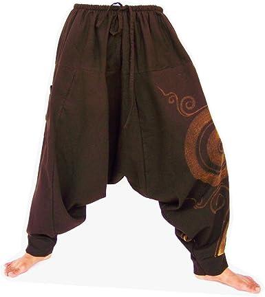 HP3 Harem Pants Women Yoga Pants Drop Crotch Aladdin Pants Maxi Pants Boho Pants Clothing Jumpsuits /& Rompers Harem Trousers Maroon Brown
