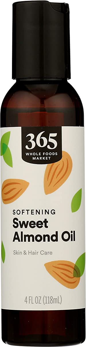 365 by Whole Foods Market, Aromatherapy Carrier Oil, Softening Sweet Almond Oil (Skin & Hair Care), 4 Fl Oz
