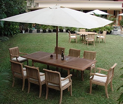 Giva Grade-A Teak Wood luxurious 9 pc Dining Set : 94