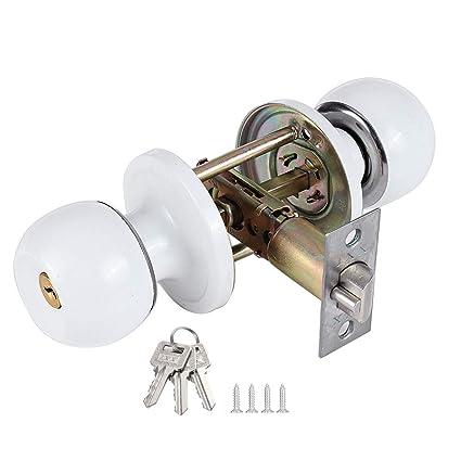 Amazon.com: Pomos de puerta con cerradura y llave, color ...