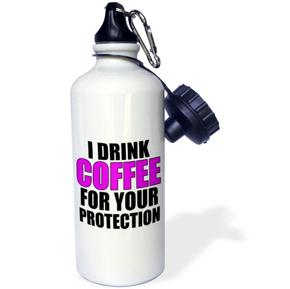 Fuchsia-Sports Water Bottle wb/_202859/_1 3dRose Drink Coffee for Your Protection 21oz 21 oz Multicolored