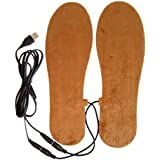 Z-YQL Men Women USB Electric Powered Heated Insole Rechargeable Thermal  Plush Heating… bc6d30fd1d94