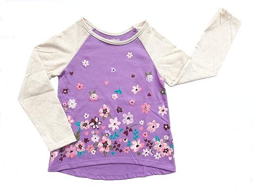 8b7a577b1e8b Garanimals Baby Toddler Girls' | Long Sleeve, HI-LO, Flowers Graphic  RaglanTee
