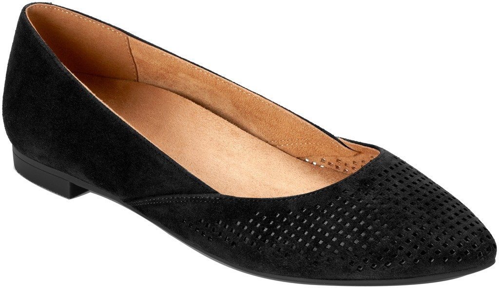 Vionic Women's, Posey Pointed Toe Fashion Flats Black 9.5 M