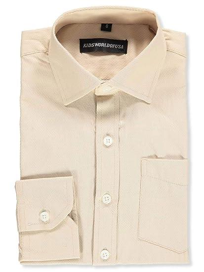 60652537f83b5e Amazon.com  Kids World Boys  Dress Shirt  Clothing