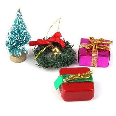 KIICN Casa De Muñecas Atractiva Decoración De Navidad Accesorios De Casas De Muñecas En Miniatura Decoración Guirnaldas: Hogar