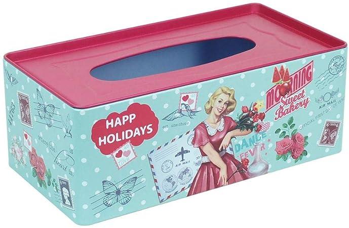Home Gadgets Caja Pañuelos Retro Metalica 25 cm: Amazon.es: Hogar